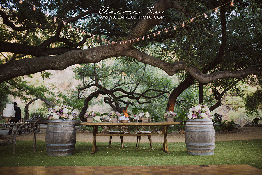 Oak Canyon Ranch Wedding Reception Detail