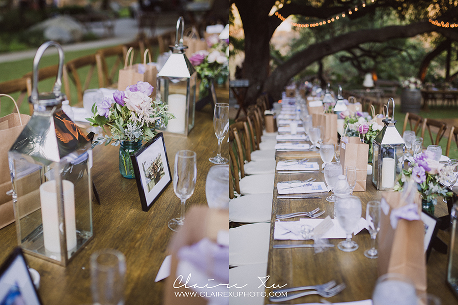 Oak Canyon Ranch Wedding Reception Dinner Table Detail