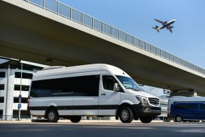 airport shuttle at the aiport