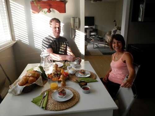 Canada- Orillia - petit déjeuner
