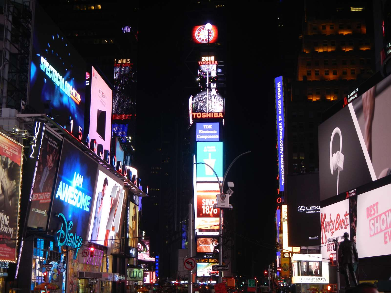 New York Arrivée à Times Square ! Clainronyva