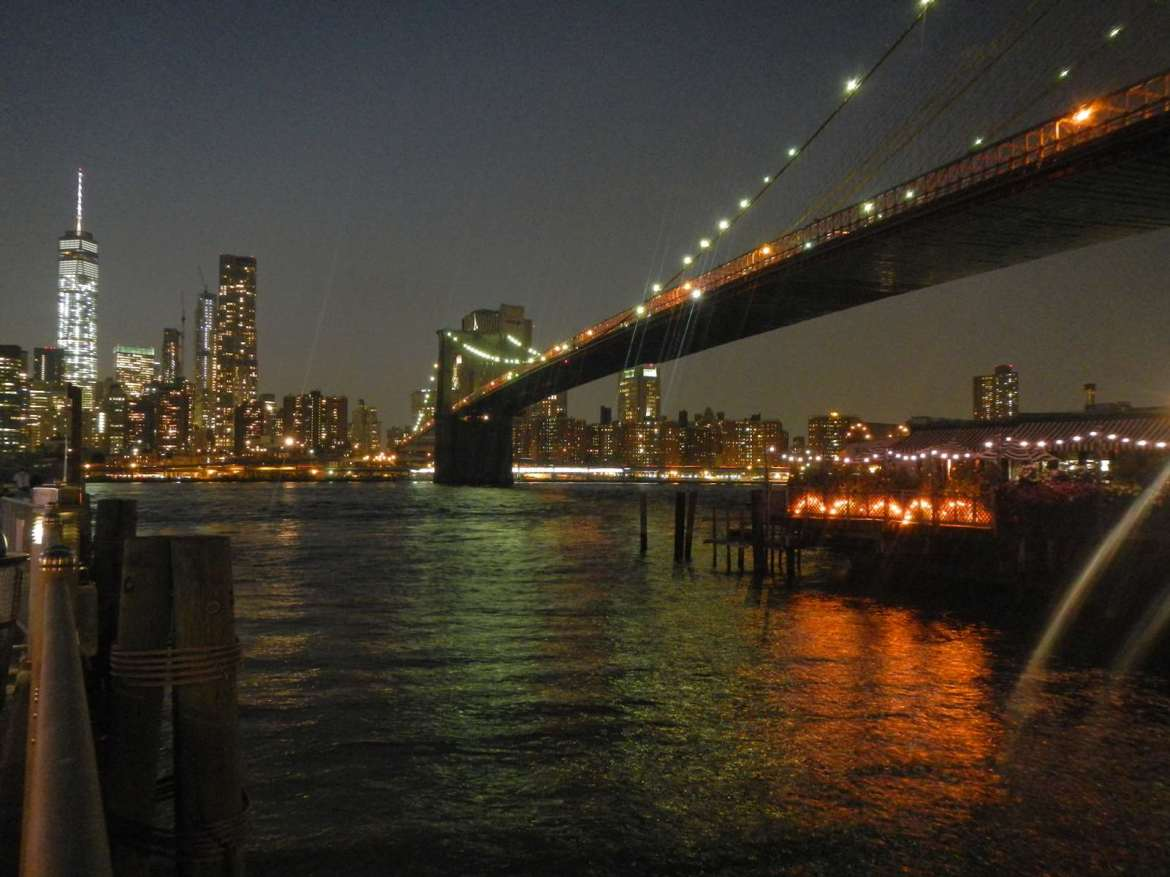 New York - coucher de soleil sur la Skyline