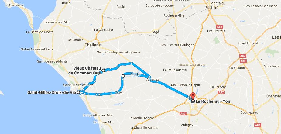 Vendée Trajet