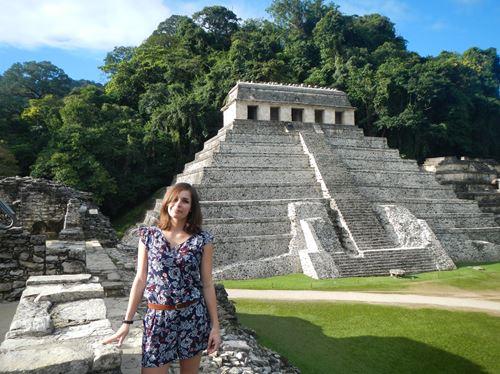Palenque - site archéologique - Le Palais - vue sur le temple des inscriptions -Claironyva