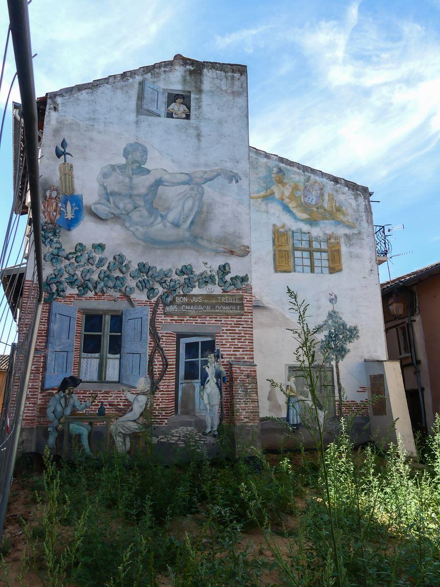 Street Art - Trompe l'oeil - croisement rue des Catalans