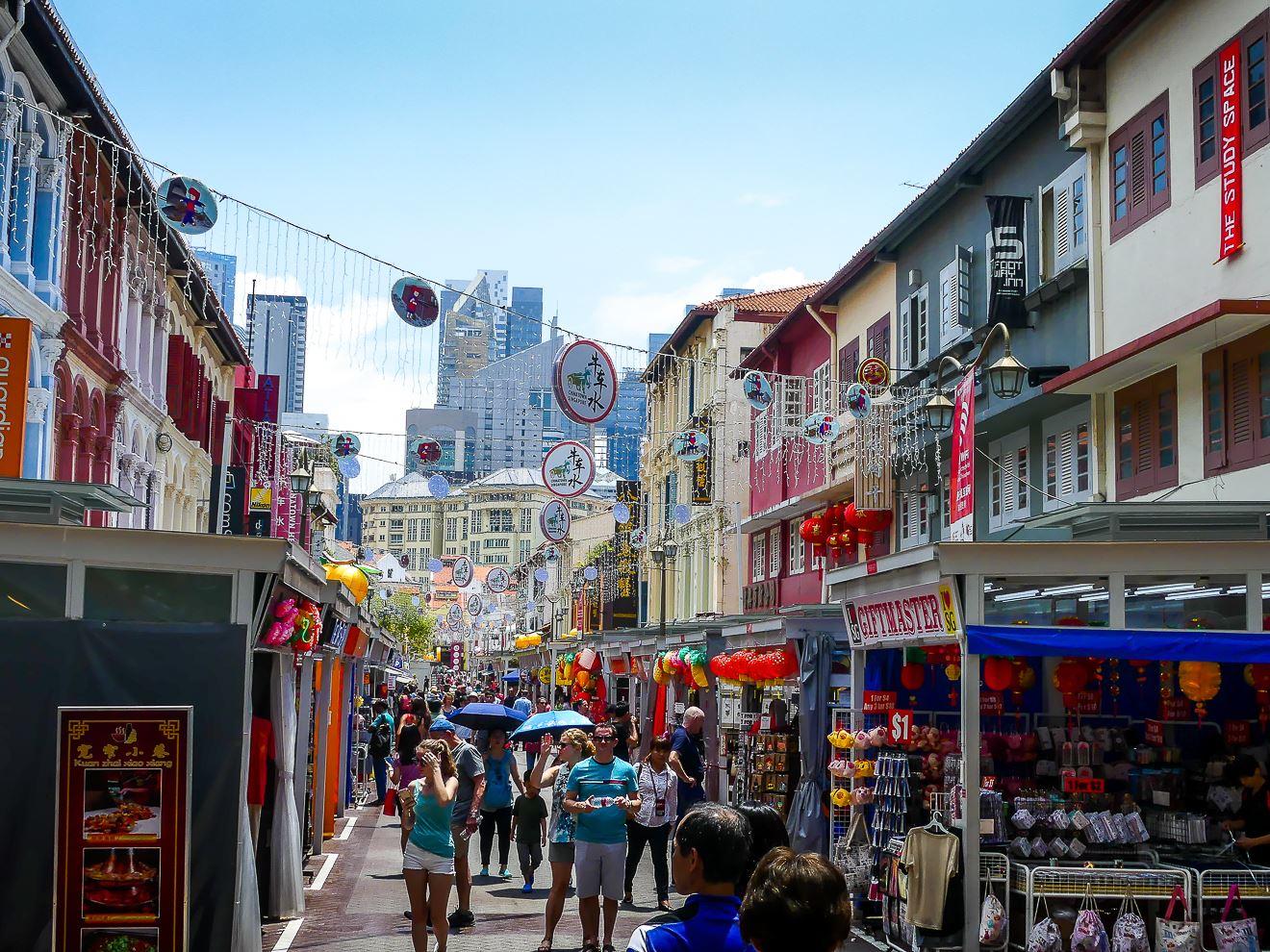 Rue commerçante Chinatown