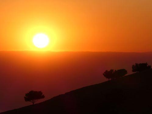 Coucher de soleil depuis le Mont Nebo