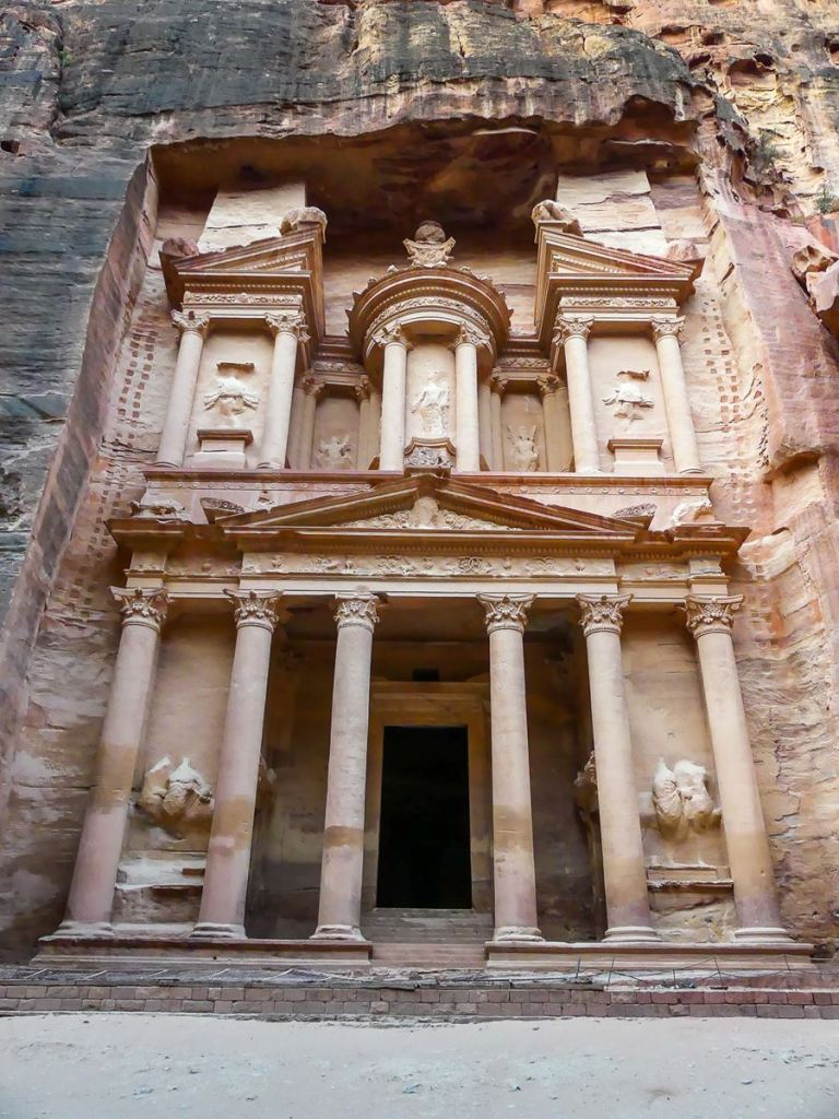Petra - Le Trésor quasi désert tôt le matin
