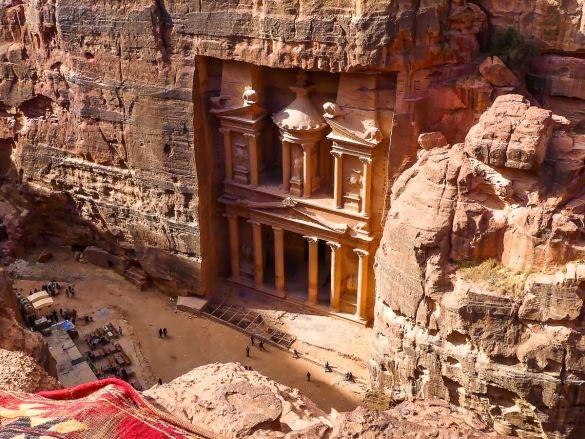Petra - vue sur le Trésor