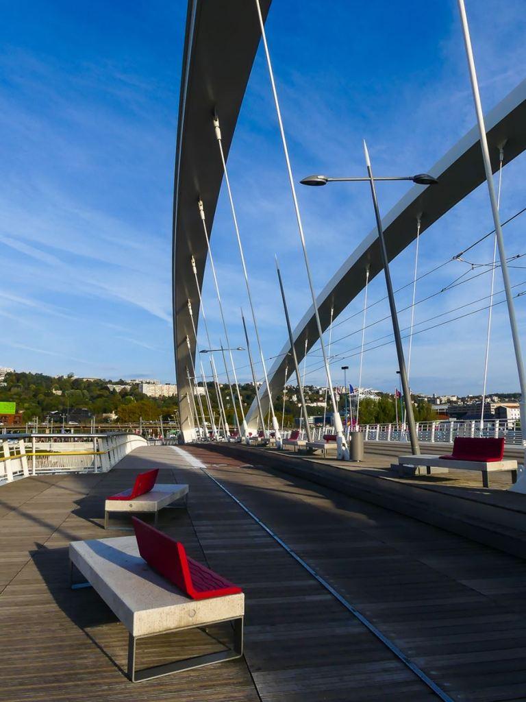 Pont Tramway près du Musée des Confluences à Lyon