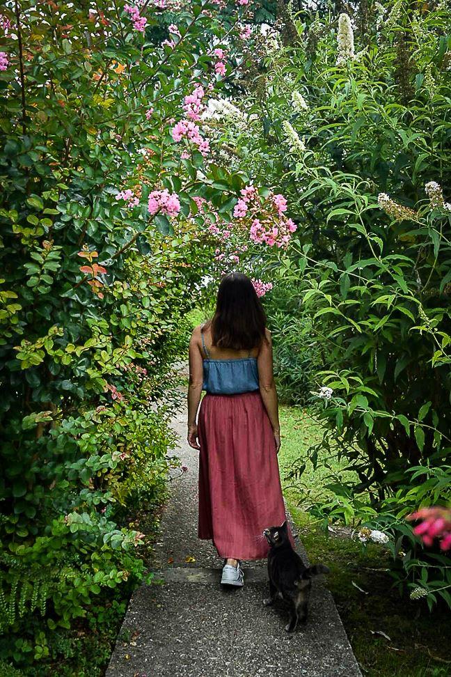Lauzerte : jardin du pèlerin