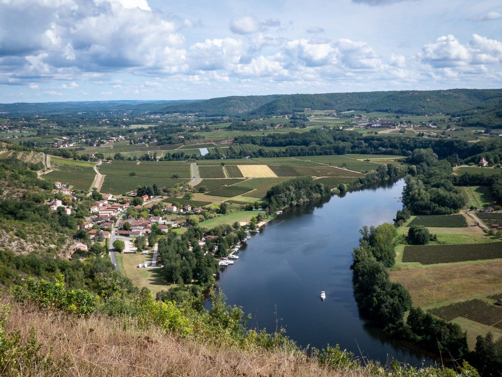 Méandre du Lot et vue sur Luzech