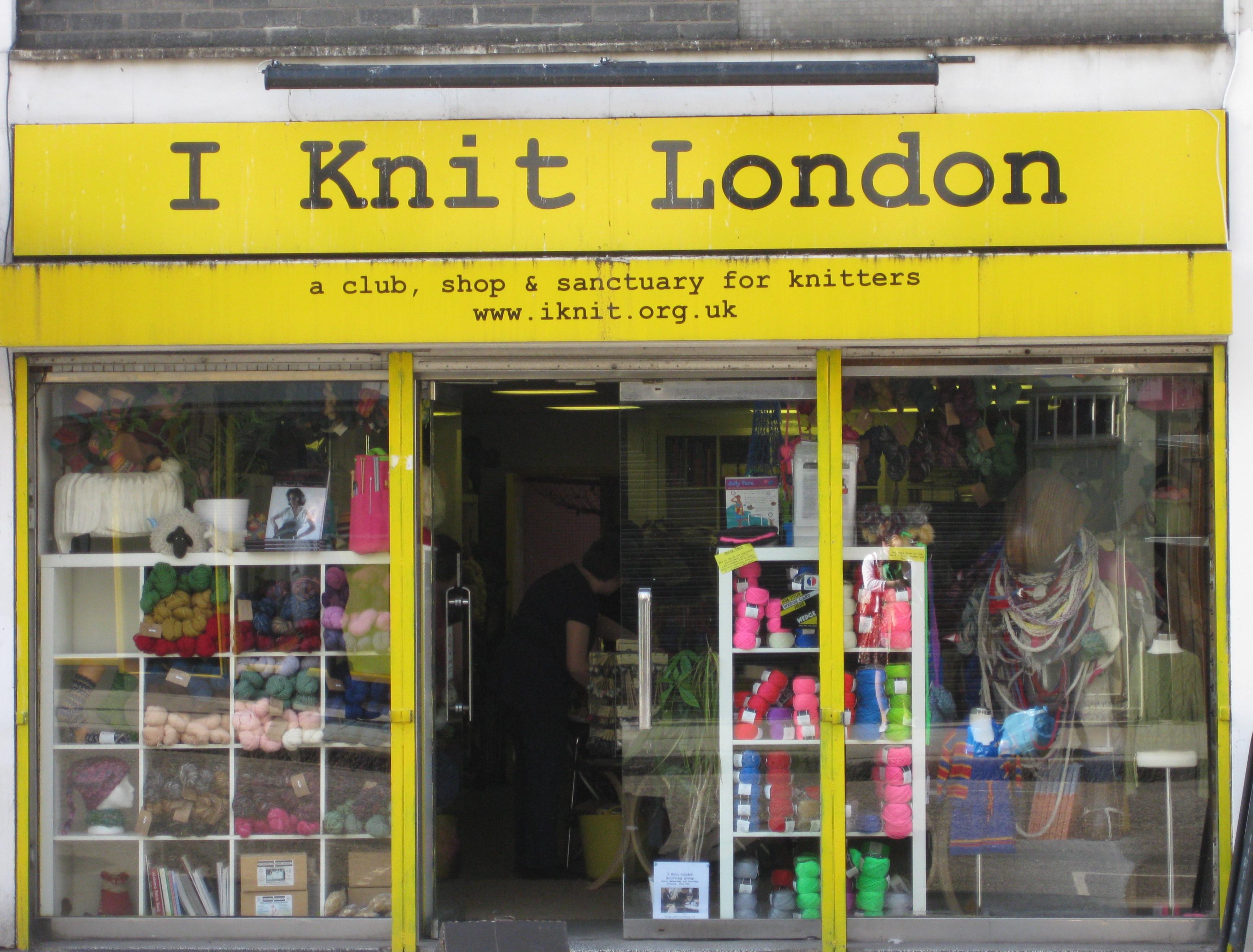 """I Knit London"", Lower Marsh, SE1."