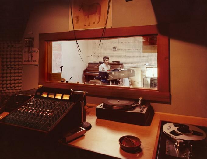 Janet Delaney, Perry Lancaster in his sound studio, 71 Langton Street