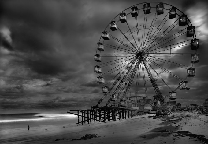 Michael Massaia, The Funtown Pier, Post Hurricane Sandy