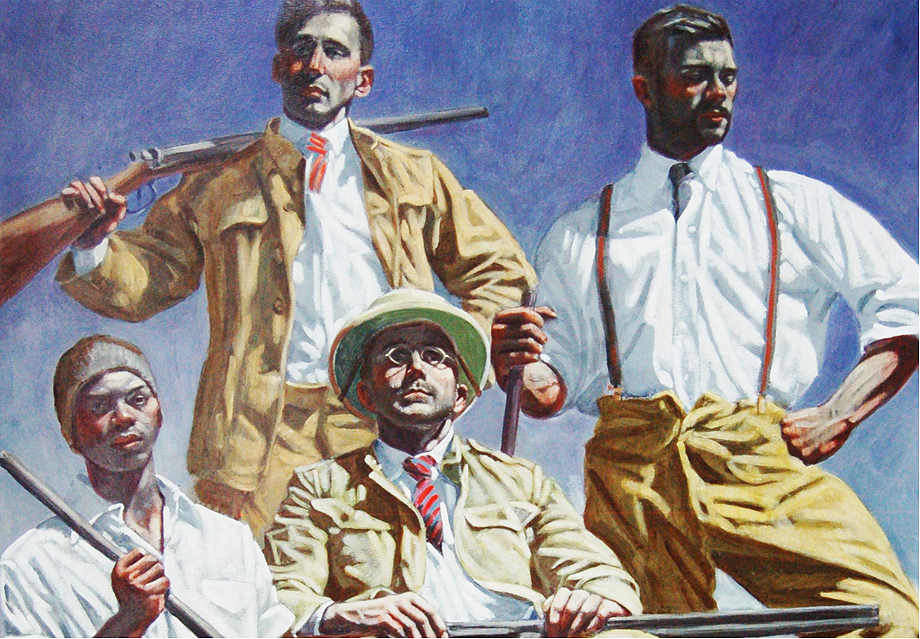 Mark Beard, Four Hunters With Trophies