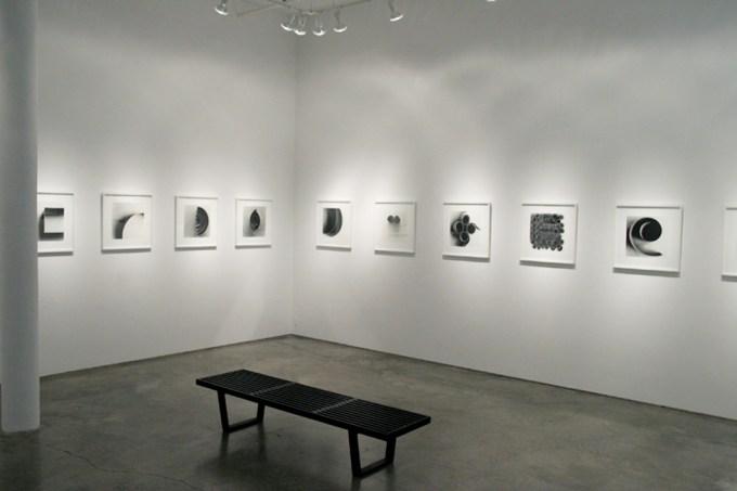 Ion Zupcu, New works on paper, installation shot 1
