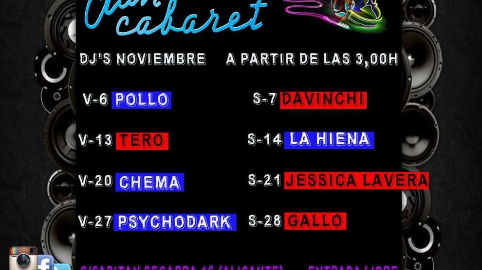 DJ Noviembre Clan Cabaret Alicante