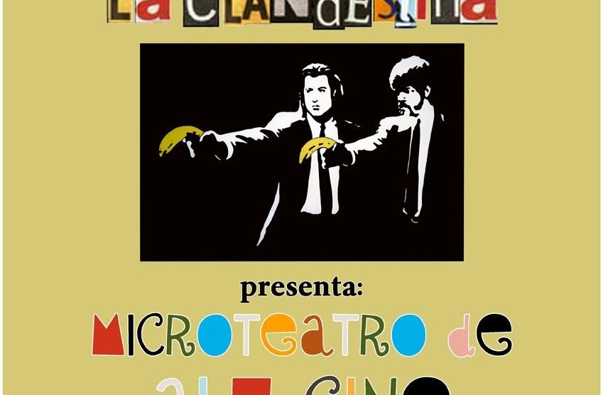"""Viernes 29 de Enero. Teatre La Clandestina """"Microteatro de alu-CINE"""""""