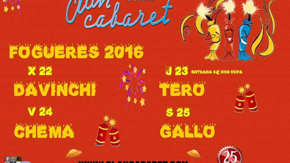 HORARIO ESPECIAL HOGUERAS 2016