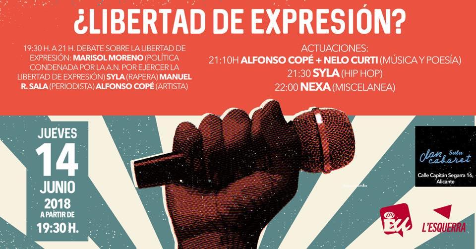 ¿Libertad de expresión? Charla, poesía y rap