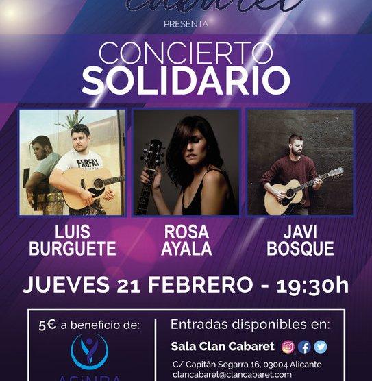 Concierto Solidario – ASINBA – Asociación sin barreras de amputados. Jueves 21 febrero