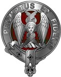 Clan carruthers crest and Tartan AM in crest