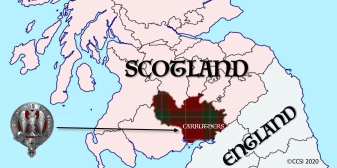 Carruthers Borders Map Tartan Dumfrieshire 2