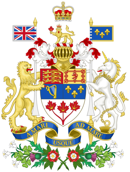 Arms of Canada, permission to use the supporters, granted by George V in 1921