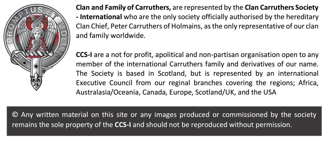 Clan Carruthers Society WP footnote 2021