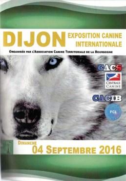Catalogue Exposition Canine Internationale de Dijon 2016