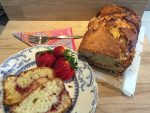 Slices of Strawberry Swirl Pound Cake