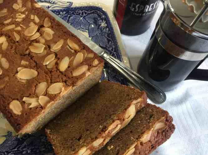 Coffee and Almond Madeira Cake