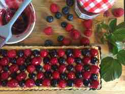 Raspberry and Blueberry Tart