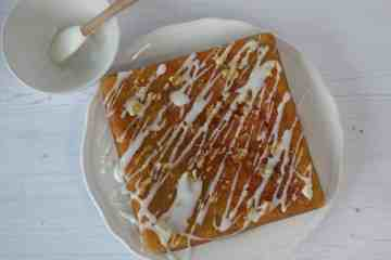 Sticky Ginger Cake with a water icing drizzle