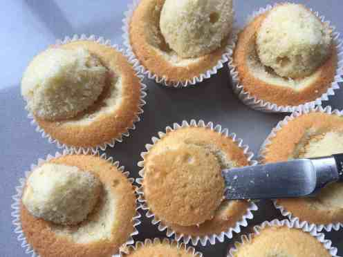 cupcakes with scooped out centres