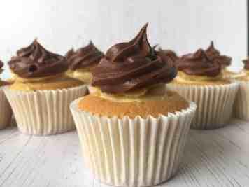 close up of cupcake