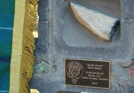 A stone from Castle Douglas installed into the 'All Clans Wall' at the Australian Standing Stones Monument in Glen Innes, Australia.