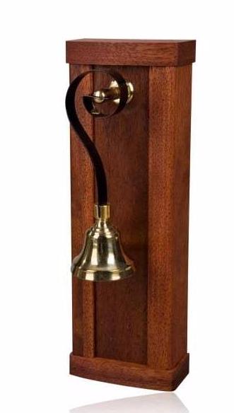 Byron Victorian Doorbell Mahogany Brass Bell