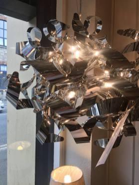 Modern Chrome Ribbon Chandelier Pendant Dar Rawley Clanrye Newry