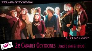 2e Cabaret Ocytocines, jeudi 5 avril à 18h30 @ Clap Lodève   Lodève   Occitanie   France