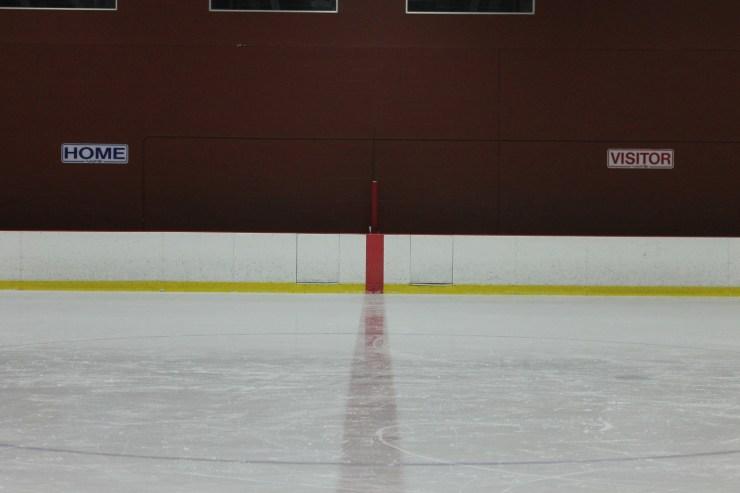 Empty Hockey Bench