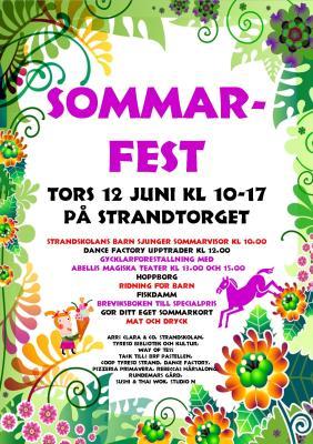 Sommarfest Strandtorget 12 juni 2014