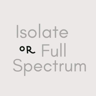 Full Spectrum CBD vs Isolate