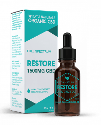 Kat's Naturals Restore Full Spectrum CBD Oil 1500mg- Clara Jane Nashville