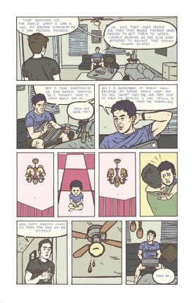 Casey Roonan, Comic page