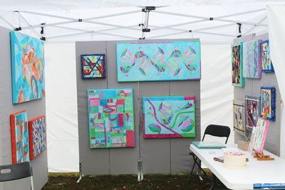 Booth Setup at my first Outdoor Craft Show