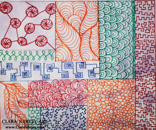 Doodling on Fabric | Free Motion Quilting Patterns | Practicing Free Motion