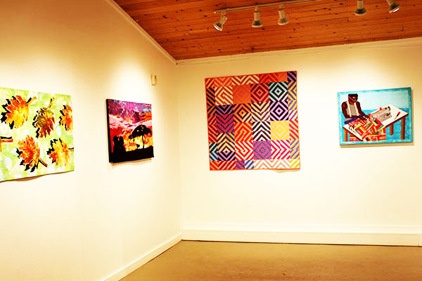 """Piecing Beauty"" Hanging in Guilford Art Center"