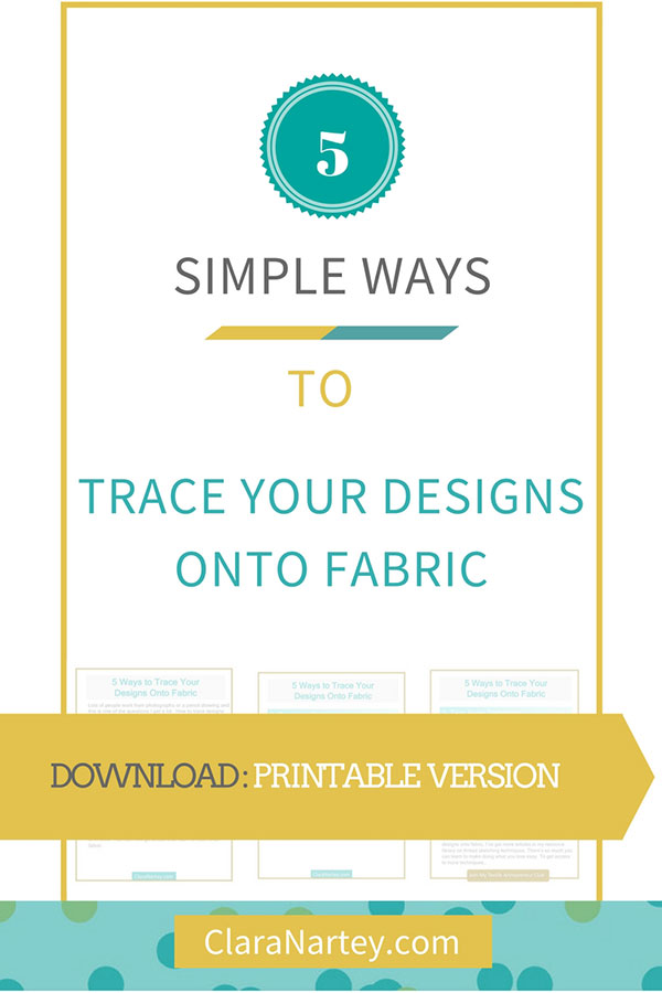 Learn to trace onto fabric any design/photo you want to use in your projects